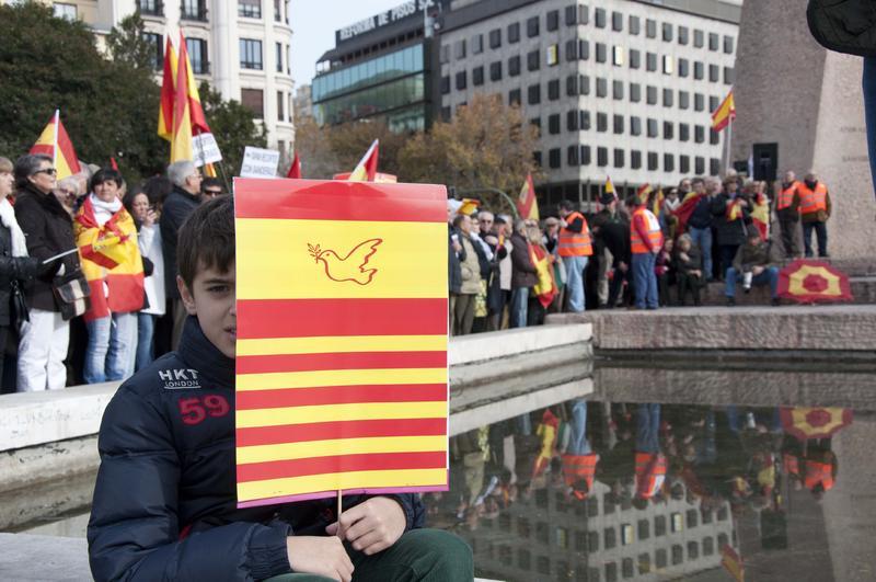 Concentración por la unidad de España - fotos
