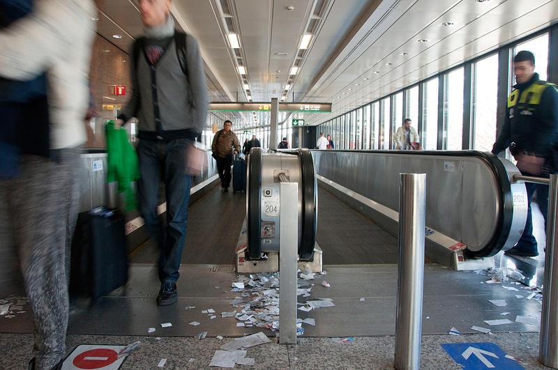 Huelga de limpieza en el aeropuerto de Barajas
