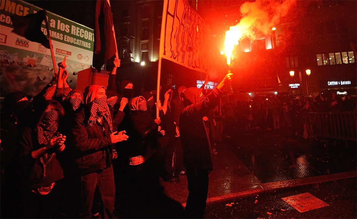 Huelga de estudiantes en Madrid – Reportaje
