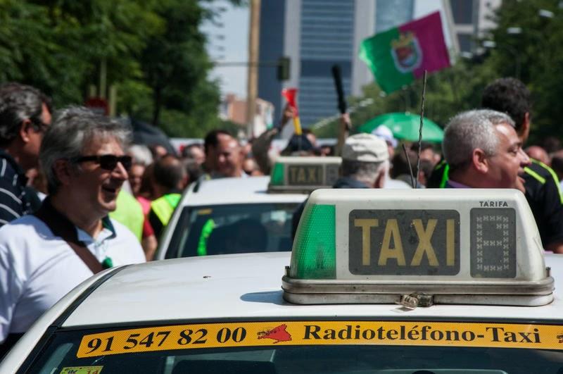 Taxistas de Madrid contra Uber