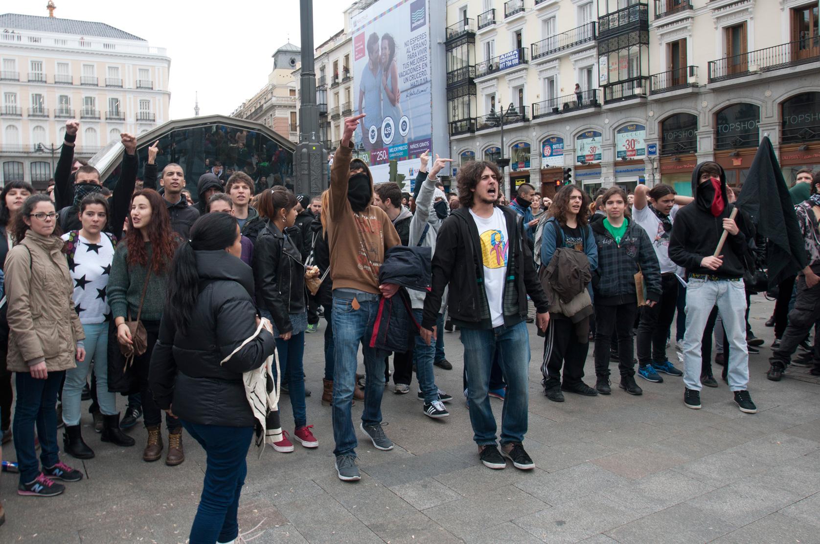 Manifestación de estudiantes en Madrid. ©DAVID ALONSO RINCÓN