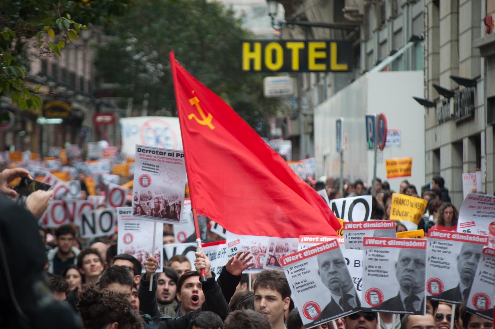 Manifestación de estudiantes en Madrid contra el ministro Wert
