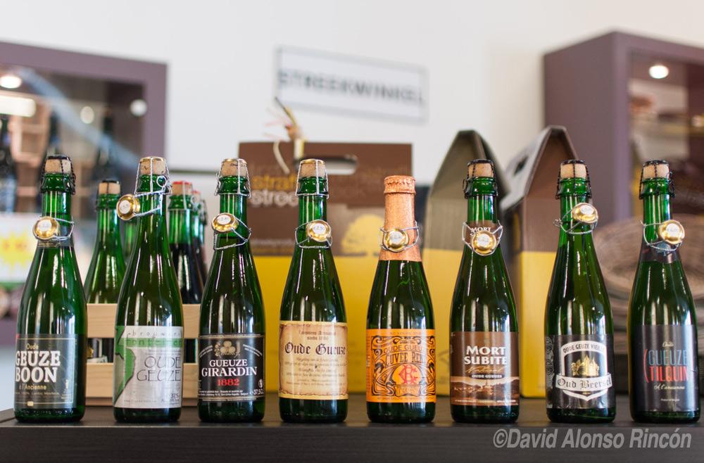 Algunas de la marcas de cerveza Lambic más conocidas de Bélgica ©David Alonso RIncón