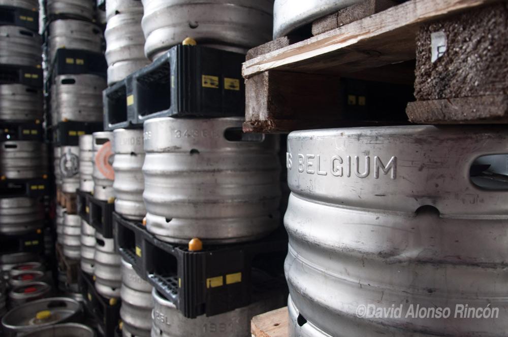 Esta cerveza, aunque poco común, también es guardada en barriles de metal listos para su transporte.  ©David Alonso RIncón