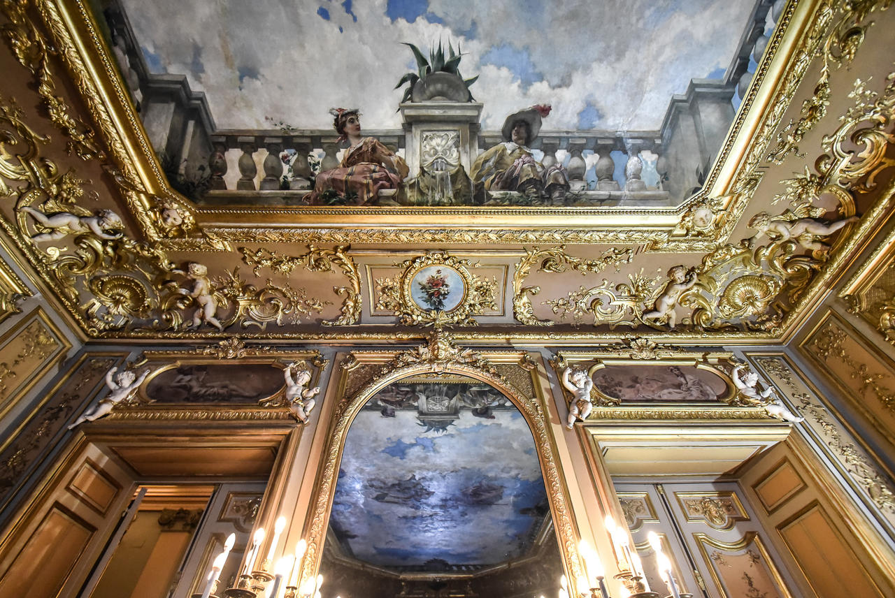 El interior del palacio de Linares. ©David Alonso Rincón.